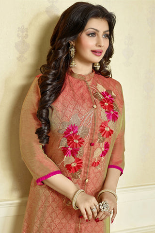 The Ayesha Takia Collection:atisundar Attractive Red Designer Party Wear Embroidered Straight Cut Featuring Ayesha Takia - 12174 - atisundar - 4