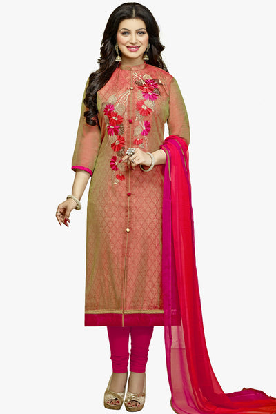 The Ayesha Takia Collection:atisundar Attractive Red Designer Party Wear Embroidered Straight Cut Featuring Ayesha Takia - 12174 - atisundar - 1 - click to zoom