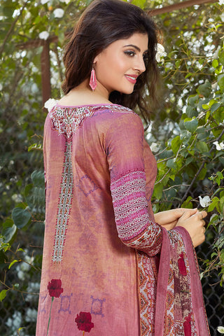 Designer Straight Cut:atisundar Smart Pink Designer Party Wear Straight Cut - 12951