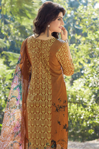 Designer Straight Cut:atisundar superb Brown Designer Party Wear Straight Cut - 12955