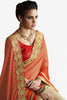 Designer Sarees:atisundar delicate Designer Party Wear Saree with Border in Orange And Cream  - 11982 - atisundar - 2 - click to zoom