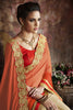 Designer Sarees:atisundar delicate Designer Party Wear Saree with Border in Orange And Cream  - 11982 - atisundar - 4 - click to zoom
