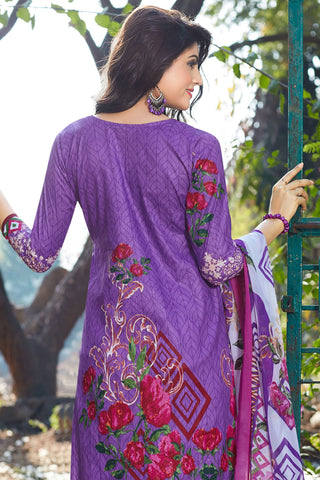 Designer Straight Cut:atisundar lovely Purple Designer Party Wear Straight Cut - 12959