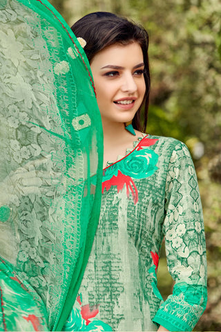 Designer Straight Cut:atisundar delightful Green Designer Party Wear Straight Cut - 12949
