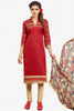 Designer Straight Cut:atisundar fair Red Designer Party Wear Straight Cut - 12859 - click to zoom
