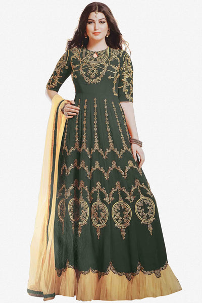 Designer Anarkali:atisundar angelic Green Designer Party Wear Anarkali - 12895 - click to zoom