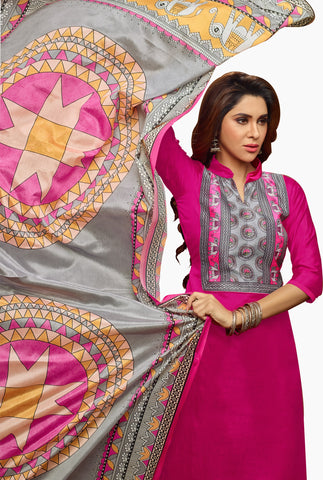 Designer Straight Cut:atisundar bewitching Pink Straight Cut Designer Wear - 14366