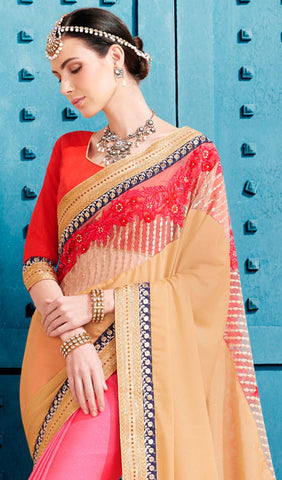 Designer Saree:atisundar magnificent Designer Embroidered Saree in Brige  - 10370 - atisundar - 2