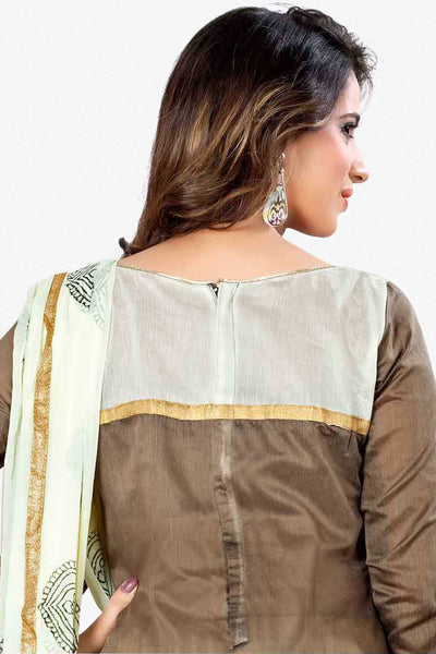 Designer Straight Cut:atisundar refined Brown Designer Party Wear Straight Cut - 13295 - click to zoom