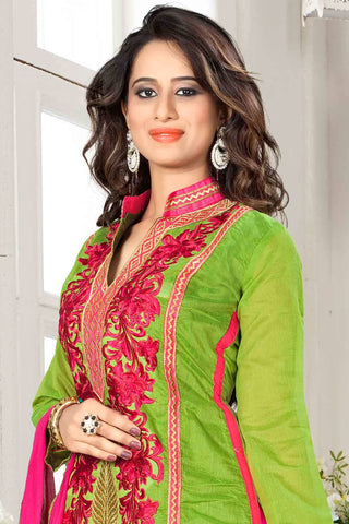 Designer Straight Cut:atisundar wonderful Green Designer Party Wear Straight Cut - 13296