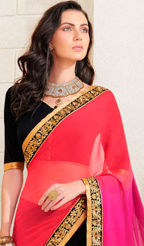 Designer Saree:atisundar graceful Designer Embroidered Saree in Black  - 10378 - atisundar - 2