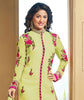 The Heena Khan Collection:atisundar pretty Green Designer Embroidered Partywear Suits in Straight Cut - 9705 - atisundar - 3 - click to zoom