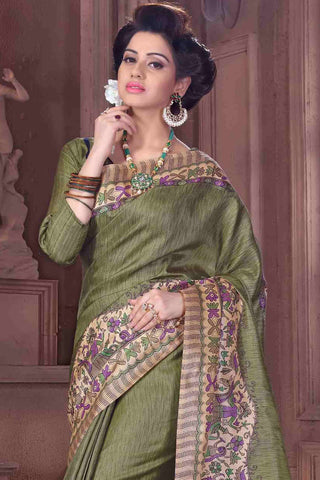Designer Saree:atisundar angelic Designer Party Wear Saree in Green  - 13369
