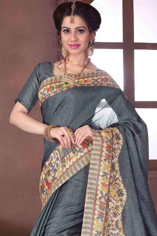Designer Saree:atisundar exquisite Designer Party Wear Saree in Grey  - 13370