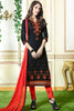 Designer Straight Cut:atisundar delicate Black Designer Party Wear Straight Cut - 13392 - click to zoom