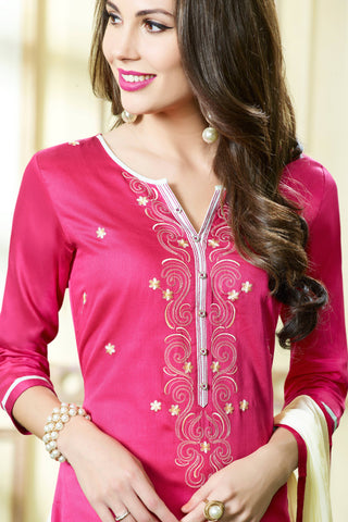 Designer Straight Cut:atisundar wonderful Pink Designer Party Wear Straight Cut - 13393