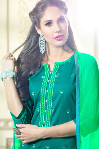 Designer Straight Cut:atisundar radiant Green Designer Party Wear Straight Cut - 13394