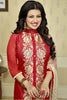 The Ayesha Takia Collection:atisundar Alluring Maroon Designer Party Wear Embroidered Straight Cut Featuring Ayesha Takia - 12176 - atisundar - 5 - click to zoom