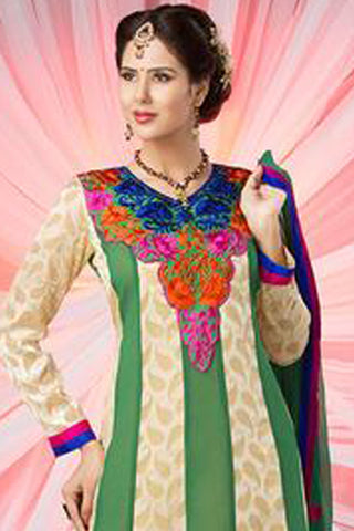 atisundar Diti: Divine Unstitched Salwar Kameez In Multiple colors - 2901 - atisundar - 4