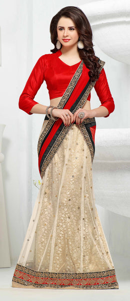 Designer Lehenga:atisundar Beautiful Jacquard Lehenga in Red - 6984 - atisundar - 4 - click to zoom