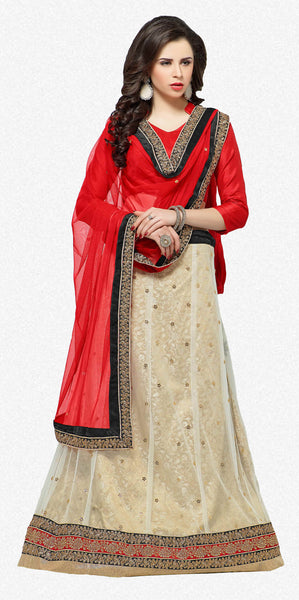 Designer Lehenga:atisundar Beautiful Jacquard Lehenga in Red - 6984 - atisundar - 2 - click to zoom