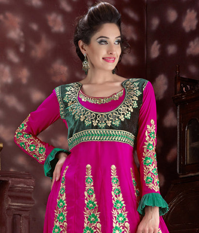 Radiant Embroidery Pink Unstitched Salwar Kameez By atisundar - 2761 - atisundar - 3 - click to zoom
