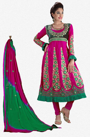 Radiant Embroidery Pink Unstitched Salwar Kameez By atisundar - 2761 - atisundar - 1 - click to zoom