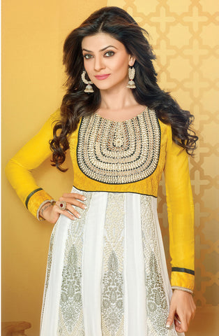 Mayeri Featuring Sushmita Sen:atisundar splendid   in Yellow And White - 4866 - atisundar - 4