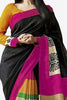 Designer Bhagalpuri Saree:atisundar charming Designer Printed Saree in Faux Bhagalpuri Silk in Black  - 11109 - atisundar - 2 - click to zoom