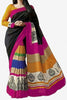 Designer Bhagalpuri Saree:atisundar charming Designer Printed Saree in Faux Bhagalpuri Silk in Black  - 11109 - atisundar - 1 - click to zoom