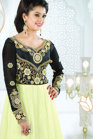 Designer Anarkali:atisundar refined White And Black Designer Party Wear Embroidered Anarkali - 11888 - atisundar - 5