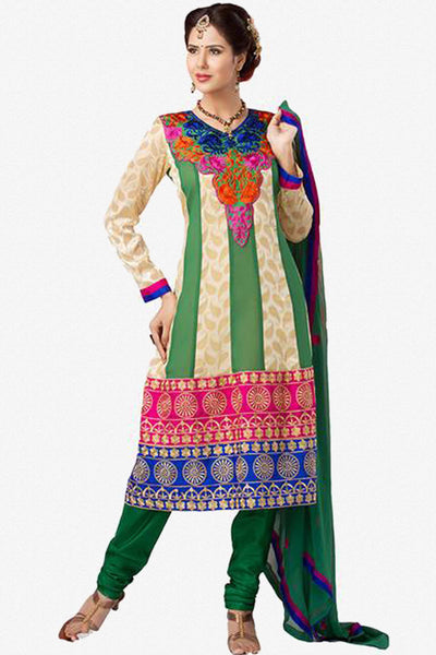 atisundar Diti: Divine Unstitched Salwar Kameez In Multiple colors - 2901 - click to zoom