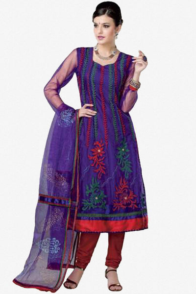 atisundar Malini: Gorgeous Unstitched Embroidery Salwar Kameez - 2920 - click to zoom