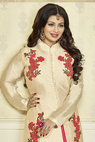The Ayesha Takia Collection:atisundar cute Off White Designer Party Wear Embroidered Straight Cut Featuring Ayesha Takia - 12180 - atisundar - 6
