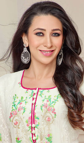 The karishma Kapoor Collection!:atisundar enticing Off White Designer Straight Cut  - 7861 - atisundar - 3