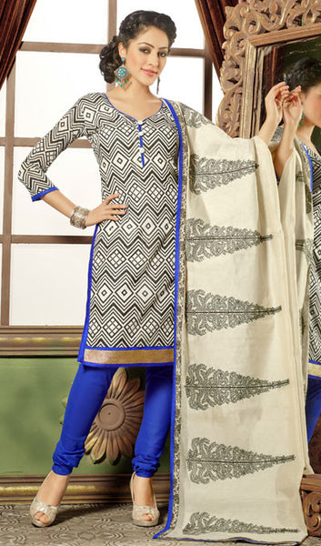 Designer Straight Cut:atisundar Great Black And White Designer Straight Cut  - 8325 - atisundar - 1 - click to zoom