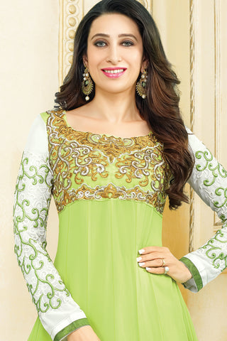 Designer Anarkali:atisundar Smart Green Designer Embroidered Anarkali - 10685 - atisundar - 2