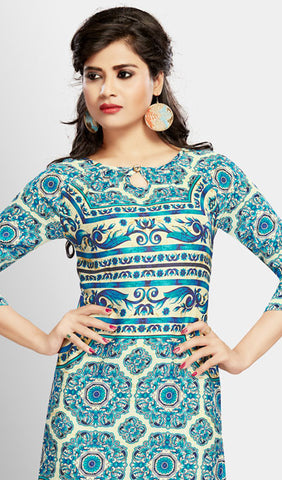 Designer Tops:atisundar Superb Digital Printed Cotton Designer Digital Printed Top in Blue - 10271 - atisundar - 2 - click to zoom