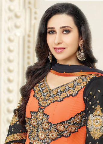 The Karishma Kapoor Collection:atisundar divine   in Orange - 5090 - atisundar - 3