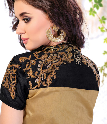 Designer Straight Cut:atisundar Beautiful Brown Designer Straight Cut  - 8447 - atisundar - 3 - click to zoom