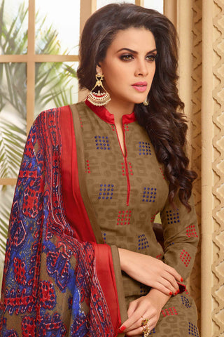 Designer Straight Cut:atisundar angelic Brown Designer Party Wear Straight Cut  - 13950