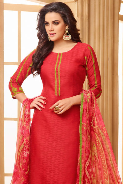 Designer Straight Cut:atisundar charming Red Designer Party Wear Straight Cut  - 13952 - click to zoom