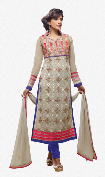 Designer Straight Cut Suit!:atisundar Awesome Off White Designer Straight Cut  - 7121 - atisundar - 2 - click to zoom
