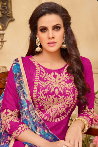 Designer Straight Cut:atisundar fair Pink Designer Party Wear Straight Cut  - 13959