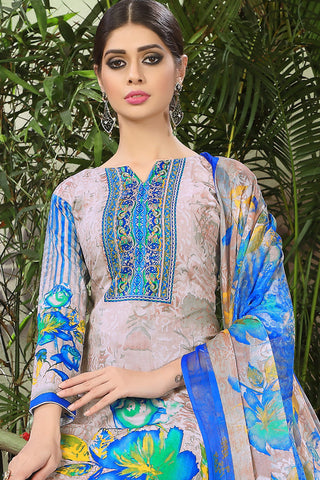 Printed Straight Cut Suits with Dupatta:atisundar stunning Multi Designer Cotton Printed Salwar Suit - 15477