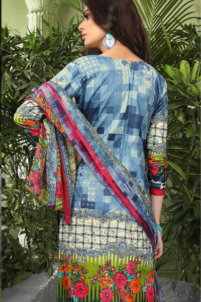 Printed Straight Cut Suits with Dupatta:atisundar refined Grey Designer Cotton Printed Salwar Suit - 15480 - click to zoom