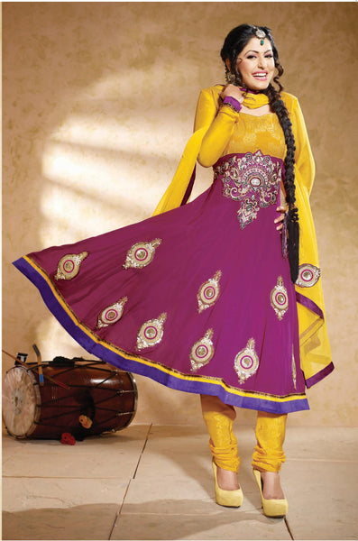 Siya Jayita: Beautiful Unstitched Salwar Kameez In Pink - 4125 - atisundar - 3 - click to zoom