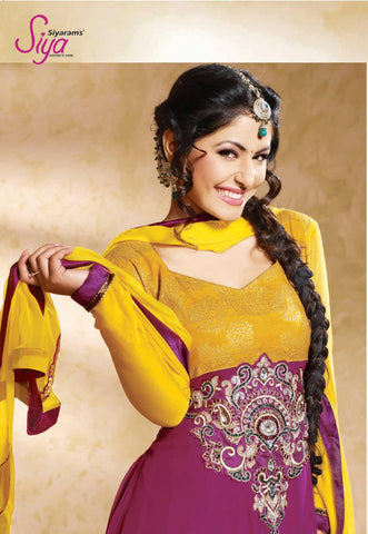 Siya Jayita: Beautiful Unstitched Salwar Kameez In Pink - 4125 - atisundar - 5