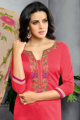 Designer Straight Cut:atisundar angelic Red Designer Party Wear Straight Cut - 13797