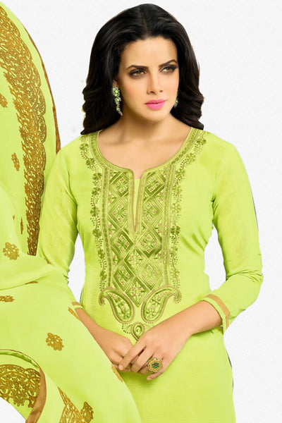 Designer Straight Cut:atisundar Superb Green Designer Party Wear Straight Cut - 13799 - click to zoom
